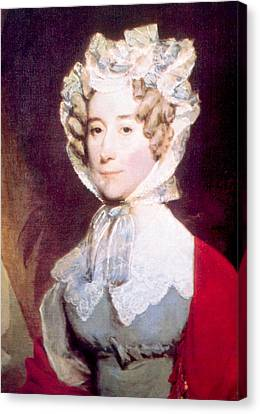 Louisa Adams 1775-1852, First Lady Canvas Print by Everett