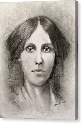 Louisa May Alcott Canvas Print
