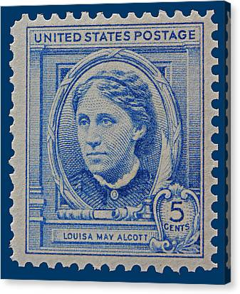 Louisa May Alcott Postage Stamp  Canvas Print