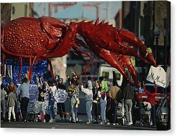 Louisianans Revel Beneath A Giant Canvas Print by Joel Sartore