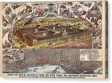 Louisville 1883 Canvas Print by Donna Leach