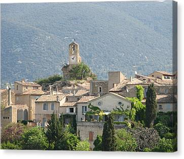 Canvas Print featuring the photograph Lourmarin In Provence by Carla Parris