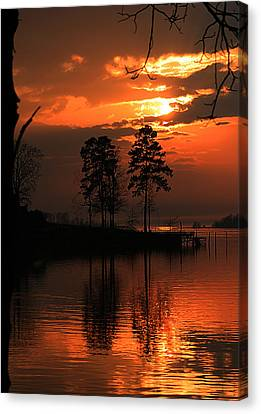 Lousiana Sunset Canvas Print by Dorothy Cunningham