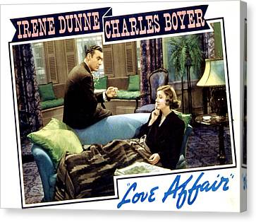 Love Affair, Charles Boyer, Irene Canvas Print by Everett