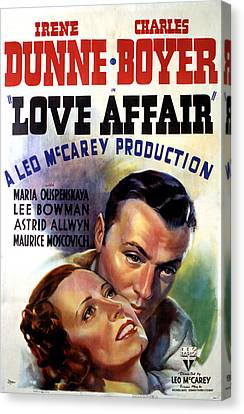 Love Affair, Irene Dunne, Charles Canvas Print by Everett
