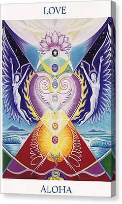 Love  Aloha Canvas Print by Tulsi Devi Art