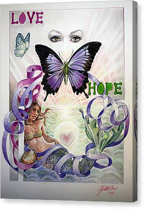 Love And Hope Canvas Print by Elizabeth Shafer