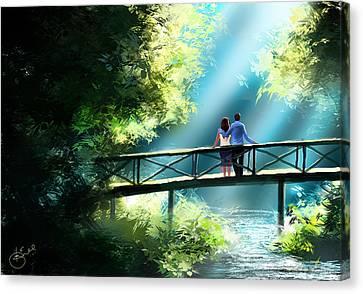 Kiran Kumar Canvas Print - Love And Light  by Kiran Kumar