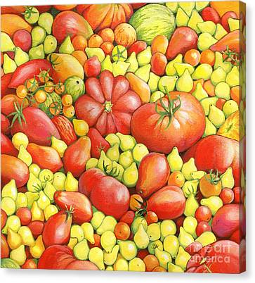 Love Apples ... Heirloom Tomatoes Canvas Print by Susan A Walton