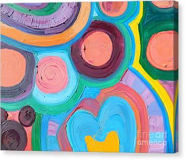 Love Circle Canvas Print