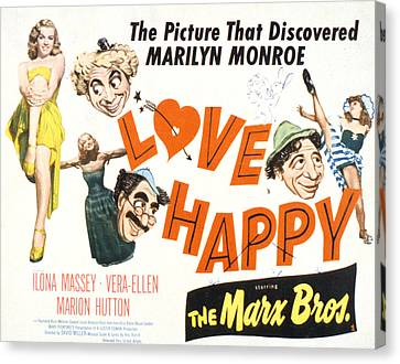 Love Happy, Marilyn Monroe, Marion Canvas Print by Everett
