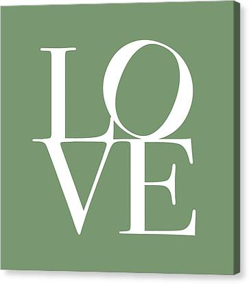 Love In Green Canvas Print