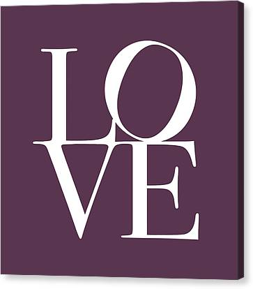 Love In Mullbery Plum Canvas Print