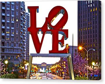 Canvas Print featuring the photograph Love In Philadelphia by Alice Gipson