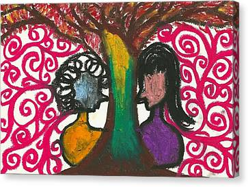 Love In The Tree's Explostion Canvas Print by Ivy T Flanders
