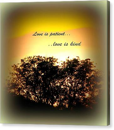 Love Is Patient   Canvas Print by Michelle Frizzell-Thompson