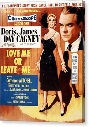 Love Me Or Leave Me, Poster Art, Doris Canvas Print