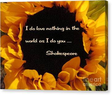 Love Nothing As I Do You  Canvas Print by Patricia Januszkiewicz