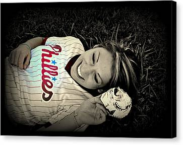 Love Of The Game Canvas Print by Ashley Branstetter