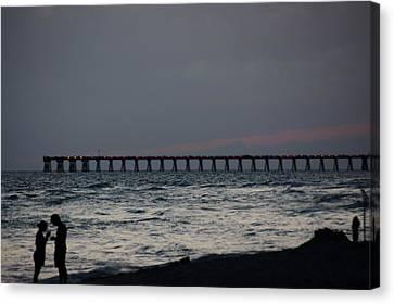 Love On The Beach Canvas Print by Paul  Wilford