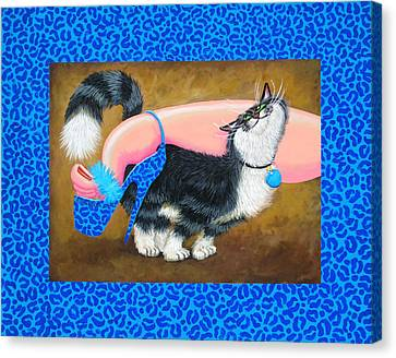 Love Pump Blue Canvas Print by Baron Dixon