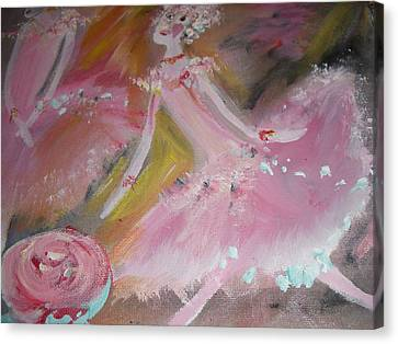 Love Rose Ballet Duet Canvas Print