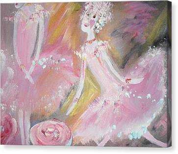 Love Rose Ballet Canvas Print
