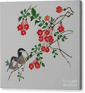 Canvas Print featuring the painting Love by Sonali Gangane