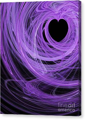 Love Swirls . A120423.689 Canvas Print by Wingsdomain Art and Photography
