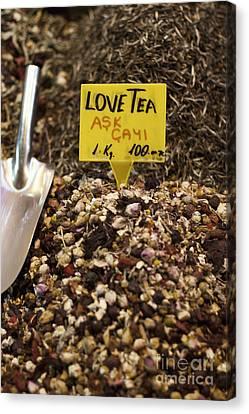 Canvas Print - Love Tea by Leslie Leda