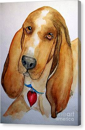 Love That Bassett Canvas Print