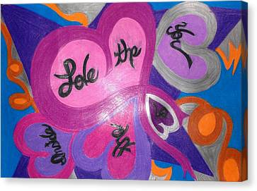 Love The Inner You Canvas Print by Jemma Starseed