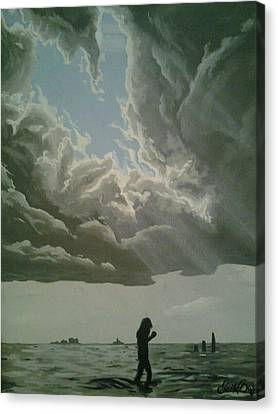 Love Walks On Water Canvas Print by Eric Barich