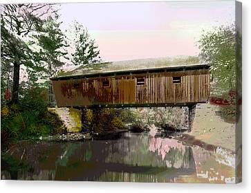 Lovejoy Covered Bridge Canvas Print by Charles Shoup