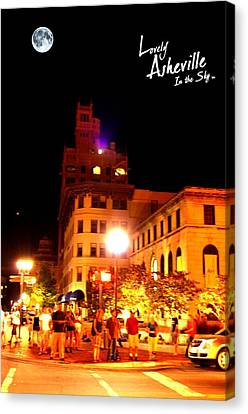 Lovely Asheville Night Downtown Canvas Print