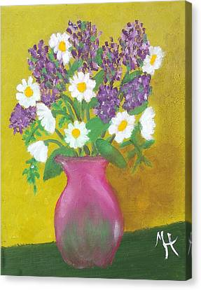 Canvas Print featuring the painting Lovely Lavender by Margaret Harmon