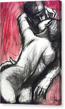 Lovers - The Kiss3 -rodin Canvas Print by Carmen Tyrrell