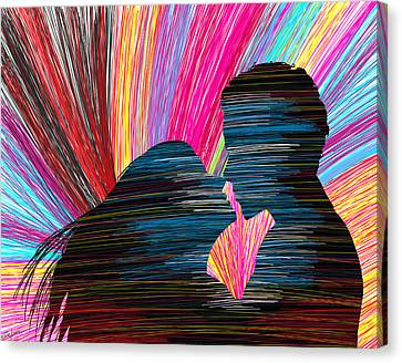 Lovers In Colour No.1 Canvas Print by Kenal Louis