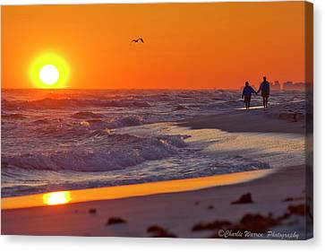 Canvas Print featuring the photograph Lover's Stroll by Charles Warren