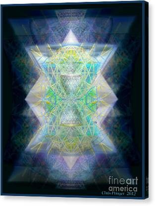 Love's Chalice From The Druid Tree Of Life Canvas Print by Christopher Pringer