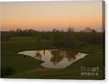 Loving The Sunset Canvas Print by Cris Hayes