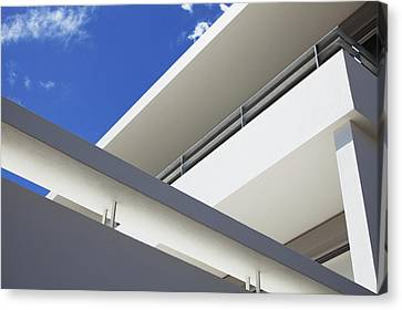 Low Angle View Of Modern Apartment Canvas Print by Clerkenwell