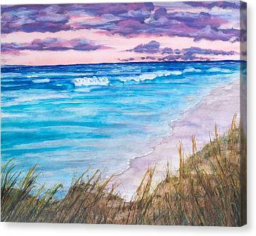 Low Tide Canvas Print by Jeanette Stewart