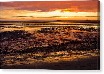 Canvas Print featuring the photograph Low Tide by Michael Friedman