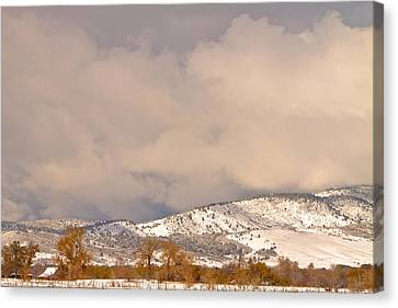 Low Winter Storm Clouds Colorado Rocky Mountain Foothills 4 Canvas Print by James BO  Insogna