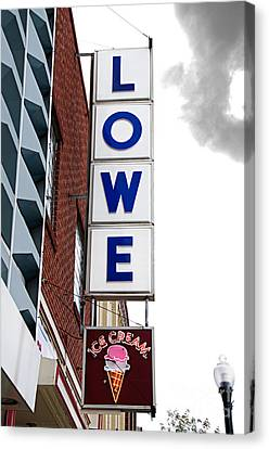 Lowe Drug Store Sign Color Canvas Print by Andee Design