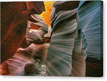 Lower Antelope Slot Canyon Canvas Print by Dean Pennala