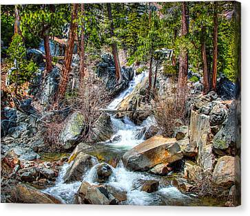 Lower Eagle Falls Emerald Bay Lake Tahoe Canvas Print by Scott McGuire