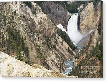 Lower Falls Another View Canvas Print by Living Color Photography Lorraine Lynch