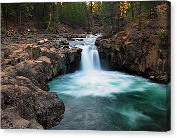 Lower Falls At Sunset Canvas Print